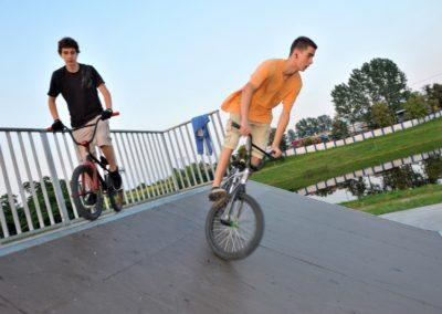 Zalew Zadębie - Struktura wokół zalewu Skate park